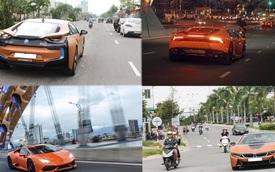 Đã mắt với cặp đôi BMW i8 và Lamborghini Huracan màu cam tại Đà Nẵng