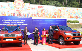 Toyota Hilux làm xe tuần tra giao thông các tỉnh miền núi phía bắc