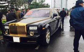 Rolls-Royce Phantom mạ vàng làm xe đưa dâu tại Quảng Ninh