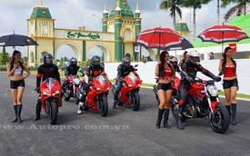 """200 biker Việt đổ về trường đua Happy Land """"quậy phá"""" cùng Ducati 959 Panigale"""