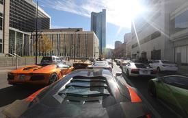Đoàn siêu xe Gia Lai Team gây tắc đường trong ngày thứ 2 diễn ra hành trình