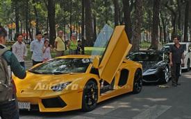 Đại gia Sài Gòn mang cặp đôi siêu xe Lamborghini đi chơi Tết
