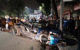Hà Nội: BMW i8 màu xanh ngọc độc nhất Việt Nam lại bị tai nạn