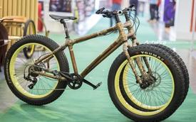 """Cận cảnh xe đạp tre 3 bánh """"made in Vietnam"""""""