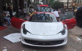"""Ferrari từng thuộc sở hữu của Phan Thành """"thay áo"""" trên vỉa hè"""