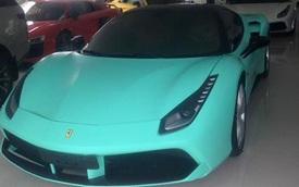 Sài Gòn: Ferrari 488 GTB khoác áo xanh ngọc như xe của Hoàng thân Qatar
