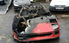 """""""Ngựa già"""" Ferrari F40 bị lửa thiêu rụi tại Anh"""