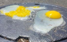 Nắng nóng 49 độ C, người dân Mỹ nướng bánh trong ô tô, rán trứng bằng nắp cống