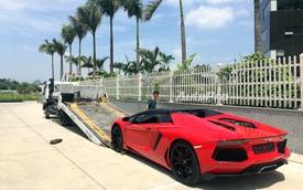 Vất vả như nghề vận chuyển Lamborghini Aventador Roadster tại Việt Nam