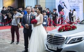 Kiện tướng Dance Sport Chí Anh đón dâu bằng dàn xe sang