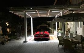"""Siêu xe Lamborghini Aventador mui trần """"tạm trú"""" trong garage Phan Thành"""
