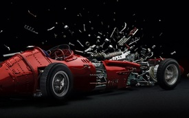 """Loạt ảnh xe nổ tung """"vi diệu"""" dựng từ 2000 bức ảnh gốc"""