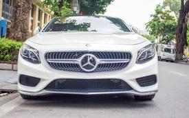 Mercedes-Benz S550 Coupe trắng muốt khoe dáng trên phố Hà thành