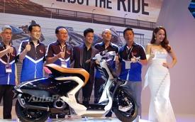 Minh Hằng vén màn mẫu xe concept đầy ấn tượng của Yamaha