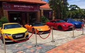 Hàng chục mô tô cùng siêu xe tụ tập tại Huế