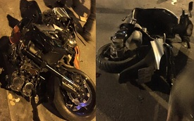 Nha Trang: Kawasaki Z1000 chạy tốc độ cao, đâm vào xe máy