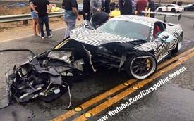 """""""Ngựa vằn"""" Ferrari 458 Italia gặp nạn """"toác đầu"""" tại Mỹ"""
