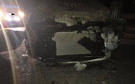 Thái Nguyên: Kia K3 đâm vào dải ta-luy, quay vài vòng trên cao tốc