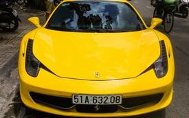 """""""Ngựa vàng"""" Ferrari 458 Italia tái xuất tại Sài Gòn"""