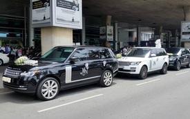 """Minh """"Nhựa"""" dẫn đoàn SUV hạng sang Land Rover ra sân bay đón vợ con"""