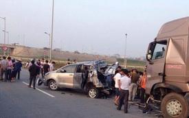 Thảm nạn cao tốc Hà Nội - Thái Nguyên: Xe Innova đi lùi