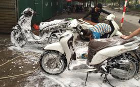 Hướng dẫn rửa xe máy tại nhà