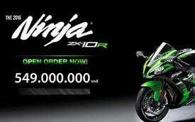 Kawasaki Ninja ZX-10R 2016 dự kiến có giá 549 triệu Đồng tại Việt Nam