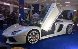 Cận cảnh siêu xe Lamborghini Aventador mui trần thứ 2 tại Việt Nam