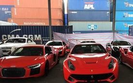 """Hàng chục siêu xe, xe siêu sang """"chạy thuế"""" đua nhau về Việt Nam"""
