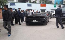 Lamborghini Huracan LP580-2 trị giá 16,5 tỷ Đồng của đại gia Hà thành ra biển trắng