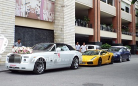 Dàn siêu xe và xe siêu sang rước dâu tại Hải Phòng