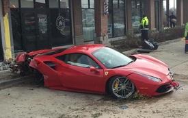 Thiếu gia 18 tuổi lái Ferrari 488 GTB lao vào tiệm cắt tóc