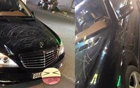 Mercedes-Benz S550 bị cào xước chằng chịt tại Bắc Ninh