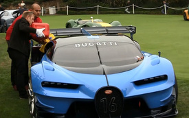 Siêu xe Bugatti Vision Gran Turismo không thể lên xe tải vì hết xăng