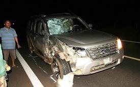 Hai người tử vong, xe máy bốc cháy do tai nạn giao thông