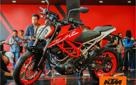 Cặp đôi naked bike cho người mới chơi KTM Duke 250 và Duke 390 2017 ra mắt Đông Nam Á