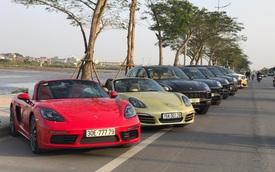 """Dàn xe Porsche """"sang chảnh"""" tập trung tại Hà Nội vào ngày cuối tuần"""