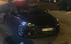 Sài Gòn: Cây xà cừ bật gốc, đè trúng nóc Mazda2 Sedan chạy ngang qua