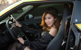 Cô nàng xinh như mộng bên Nissan GT-R
