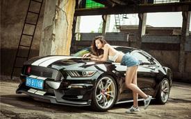"""Cô nàng chân dài bên Ford Mustang độ """"khủng"""""""