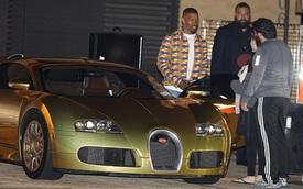 Nam tài tử Jamie Foxx khoe siêu xe Bugatti Veyron mạ vàng trị giá 2 triệu USD