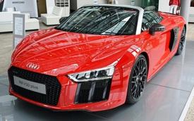 """Lần đầu chiêm ngưỡng vẻ đẹp """"bằng xương, bằng thịt"""" của siêu xe Audi R8 V10 Plus Spyder 2017"""