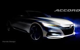 Honda tung ra hình ảnh đầu tiên của sedan cỡ trung Accord 2018