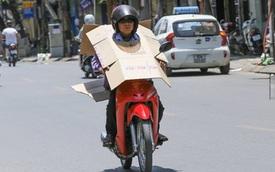 """Những kiểu chống nắng nóng """"bá đạo"""" của người đi đường Việt"""