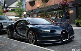 """""""Siêu phẩm"""" Bugatti Chiron đầu tiên cập bến Canada"""