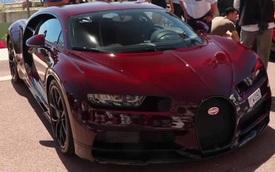 """Bắt gặp """"siêu phẩm"""" Bugatti Chiron màu hiếm tại thiên đường siêu xe"""