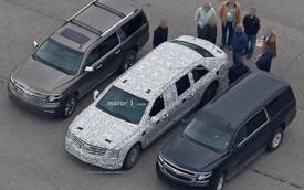Limousine bọc thép chống đạn của Tổng thống Donald Trump tiếp tục lộ diện