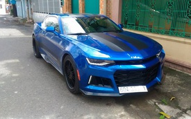 """Vừa tậu Chevrolet Camaro 2017 2,7 tỷ Đồng, tay chơi Đồng Nai đã """"lên đời"""" body kit bản ZL1 2018"""