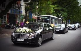 """Thiếu gia 9X Hà thành rước dâu bằng dàn xe siêu sang """"khủng"""""""