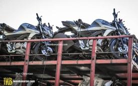 Bắt gặp lô xe côn tay Yamaha V-Ixion 2017 được vận chuyển đến đại lý